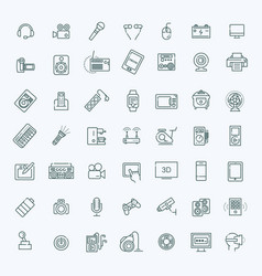 set smart devices and gadgets computer vector image