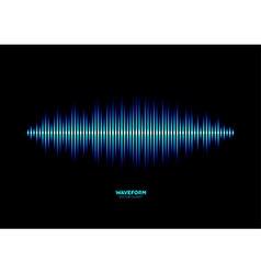 Shiny blue music waveform vector