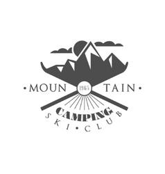 Ski Camping Emblem Design vector image