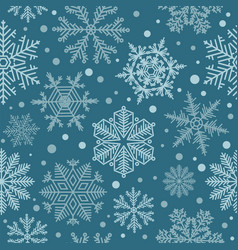 snowflake seamless pattern vintage winter vector image