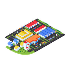 storehouse facilities - modern colorful vector image