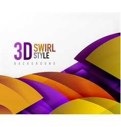 swirl and wave 3d effect objects abstract vector image