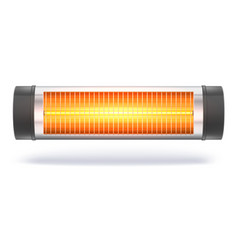 the quartz halogen heater with the glowing lamp vector image