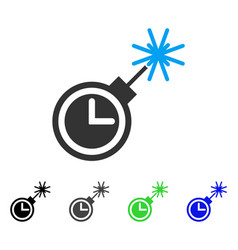 time bomb flat icon vector image
