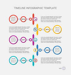 timeline design your company history vector image