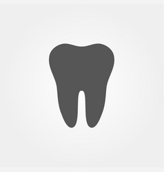tooth icon in flat design and stylish vector image