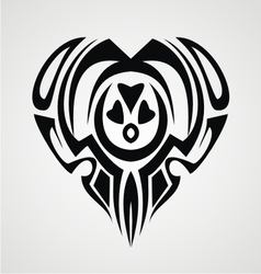 Tribal Heart Tattoo vector image