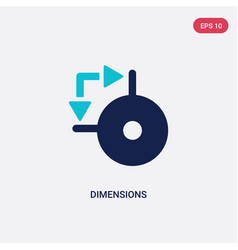 two color dimensions icon from geometry concept vector image