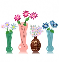 vase flowers vector image