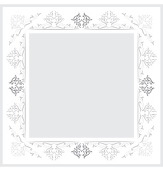 Vintage frames version grayscale vector
