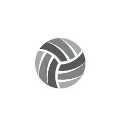 volleyball logo ball icon symbol vector image