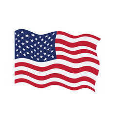 waving flag of united states vector image