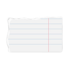 White lined paper tear with soft shadow isolated vector