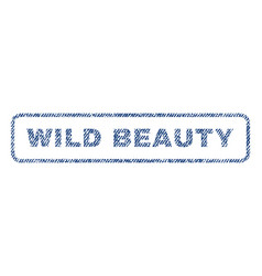 Wild beauty textile stamp vector