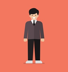 Young man in flat style vector