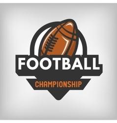 American football sports logo vector image vector image