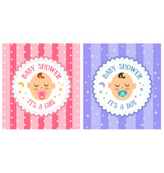 Baby shower party invitation template set vector