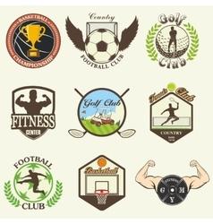 Set of vintage sports emblems vector image vector image