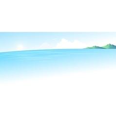 Summer blue sea landscape vector image