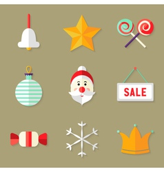 9 Christmas Icons Set 1 vector image vector image