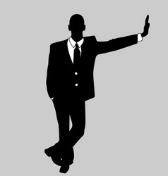 business man black and white 2 vector image