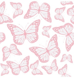 butterfly seamless pink vector image vector image