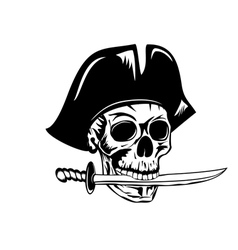 pirate and dagger vector image