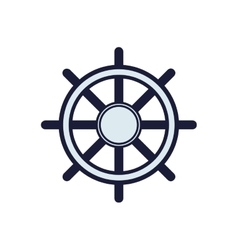 rudder sea lifestyle nautical marine icon vector image vector image