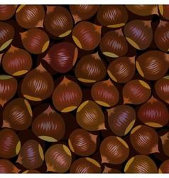 seamless chestnut background vector image
