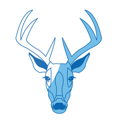 Deer antlers animal wildlife image vector
