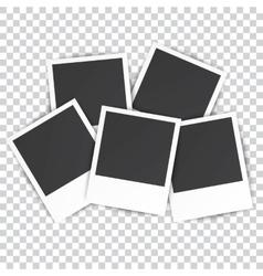 five Retro blank photography vector image