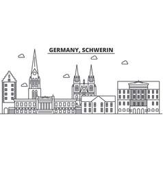 germany schwerin architecture line skyline vector image vector image