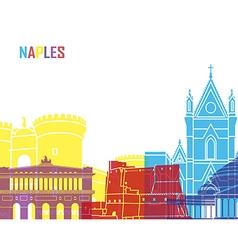 Naples skyline pop vector image vector image