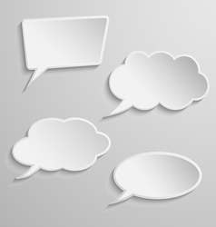 Set of four thought bubbles vector image