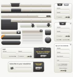 website design elements |black vector image vector image