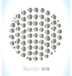 Big set of silver splashes vector image