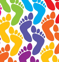 colorful feet background vector image vector image