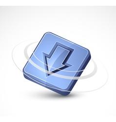 down arrow icon vector image vector image