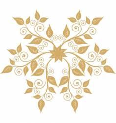 floral emblem vector image vector image