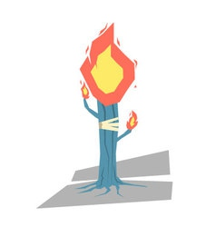 Isolated cartoon blue torch tree light up your day vector