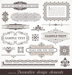 page decor elements vector image vector image