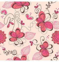pink romantic seamless pattern vector image