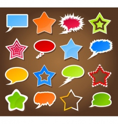 star and cloud icons vector image