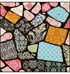 000 cracked mosaic vector
