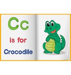A picture of crocodile in book vector