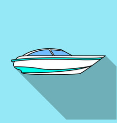 A small white boat with a motorboat for speed and vector