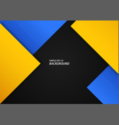 Abstract blue and yellow squares on black vector