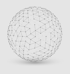 abstract grayscale mesh sphere vector image