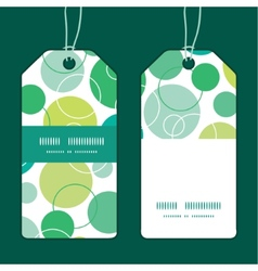 Abstract green circles vertical stripe vector