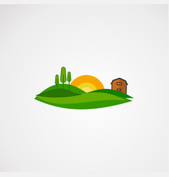 agriculture landscape logo element and template vector image